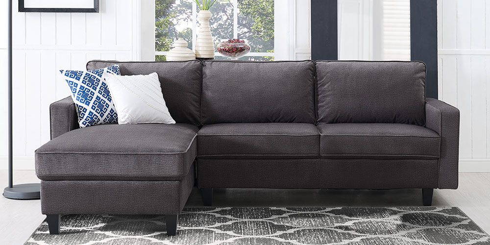 Hayden Sectional Sofa With Reversible Chaise Armchair Seat Cushion Support Saver Fabric Living Room Pinterest