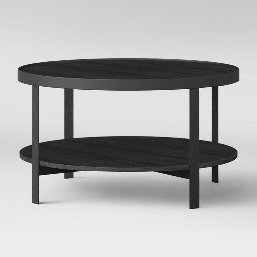When You Re Looking For An Easy Way To Incorporate A Modern Look Into Your Living Room Y White Round Coffee Table Black Coffee Tables Round Metal Coffee Table