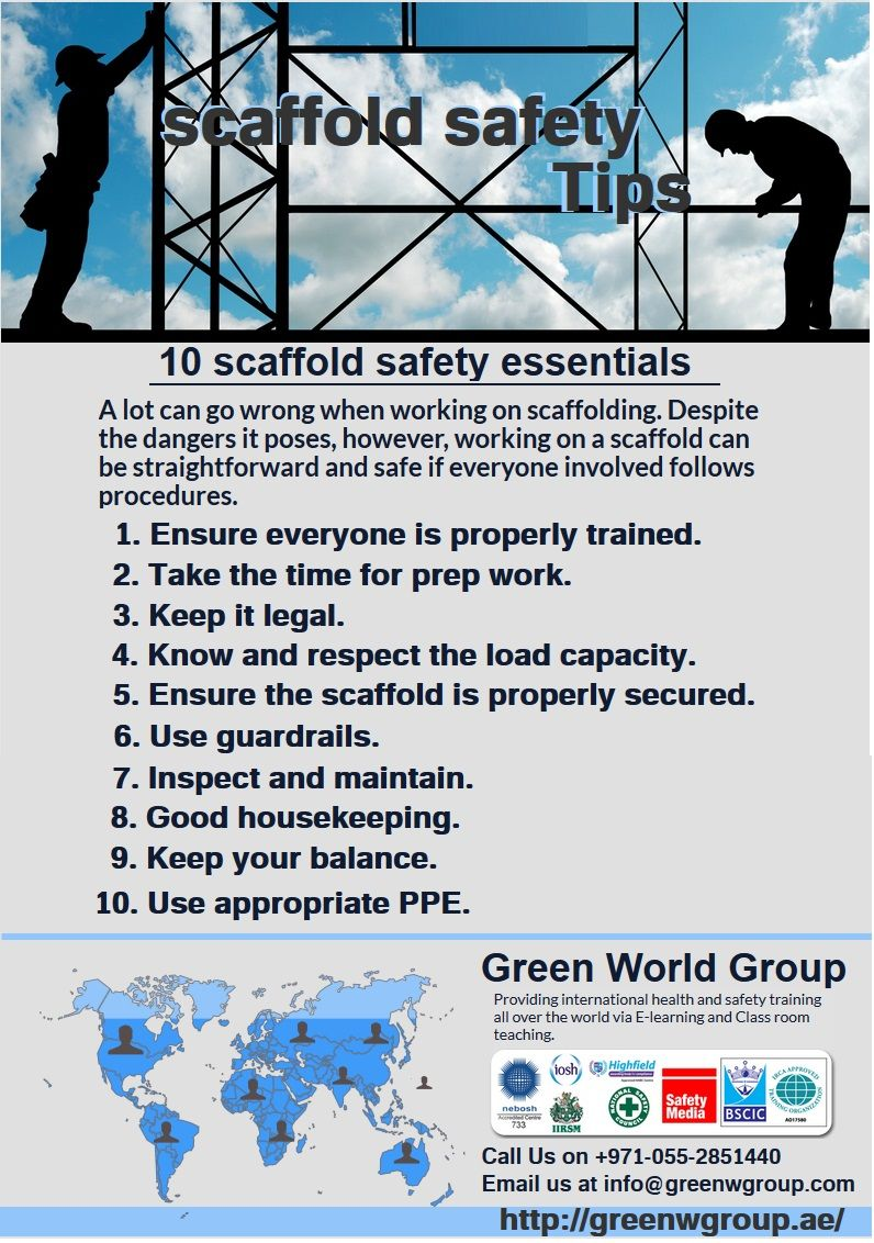 A lot can go wrong when working on scaffolding. 90 of all