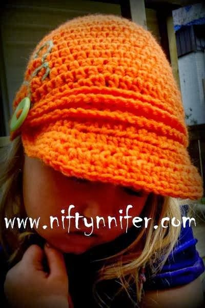 Free Newsboy Style Beanie Crochet Pattern by Niftynnifer | Knitting ...