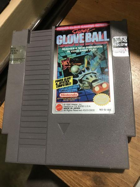 Vintage Nintendo NES Super Glove Ball Hard To Find Game