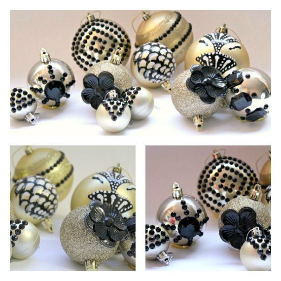 Art Deco Christmas Ornaments DIY Tutorial@ Love That Party ...