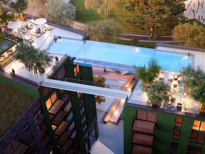 See-through swimming pool to span a street, 10 stories up - CNET