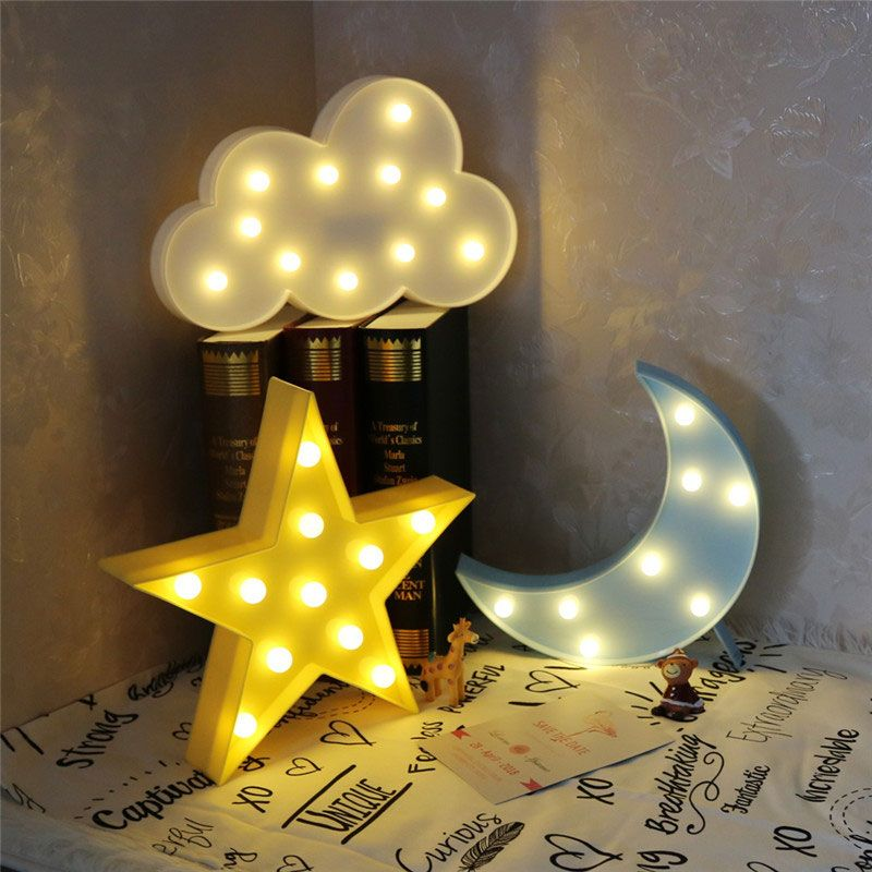 Vvcare Bc Nl02 Led Night Light For Kids Moon Star Cloud Bedroom Bedside Lamp Room Party Decorations Baby Kids Mother Care From Home And Garden On Banggood Com Decoracion De Unas Decoracion