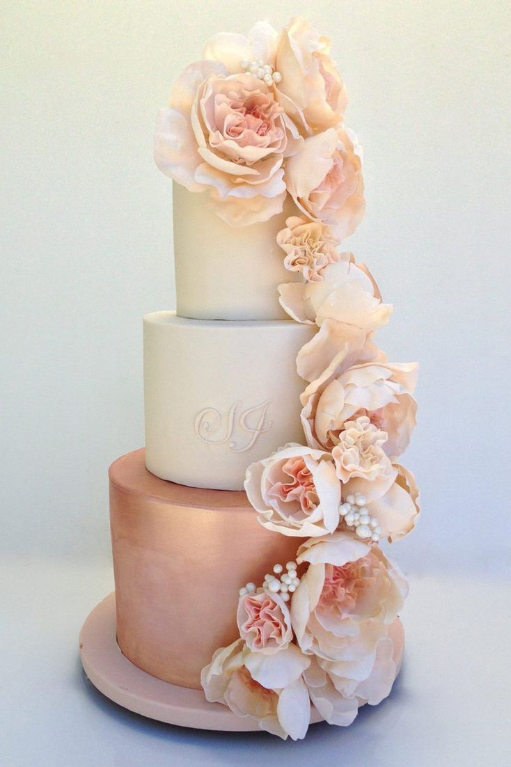 Rose Gold Wedding Cake -   14 wedding Rose Gold cake ideas