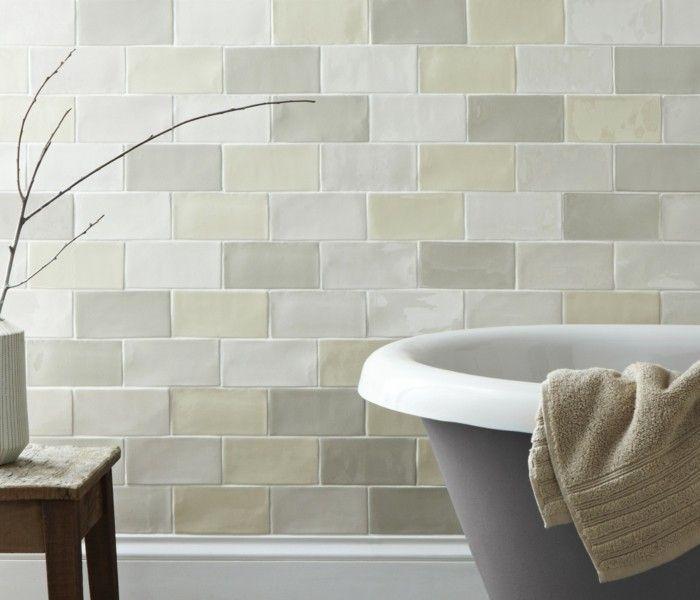Keramikfliesen Dekoideen Mit Keramikfliesen Mit Krakelee - Wandgestaltung im badezimmer