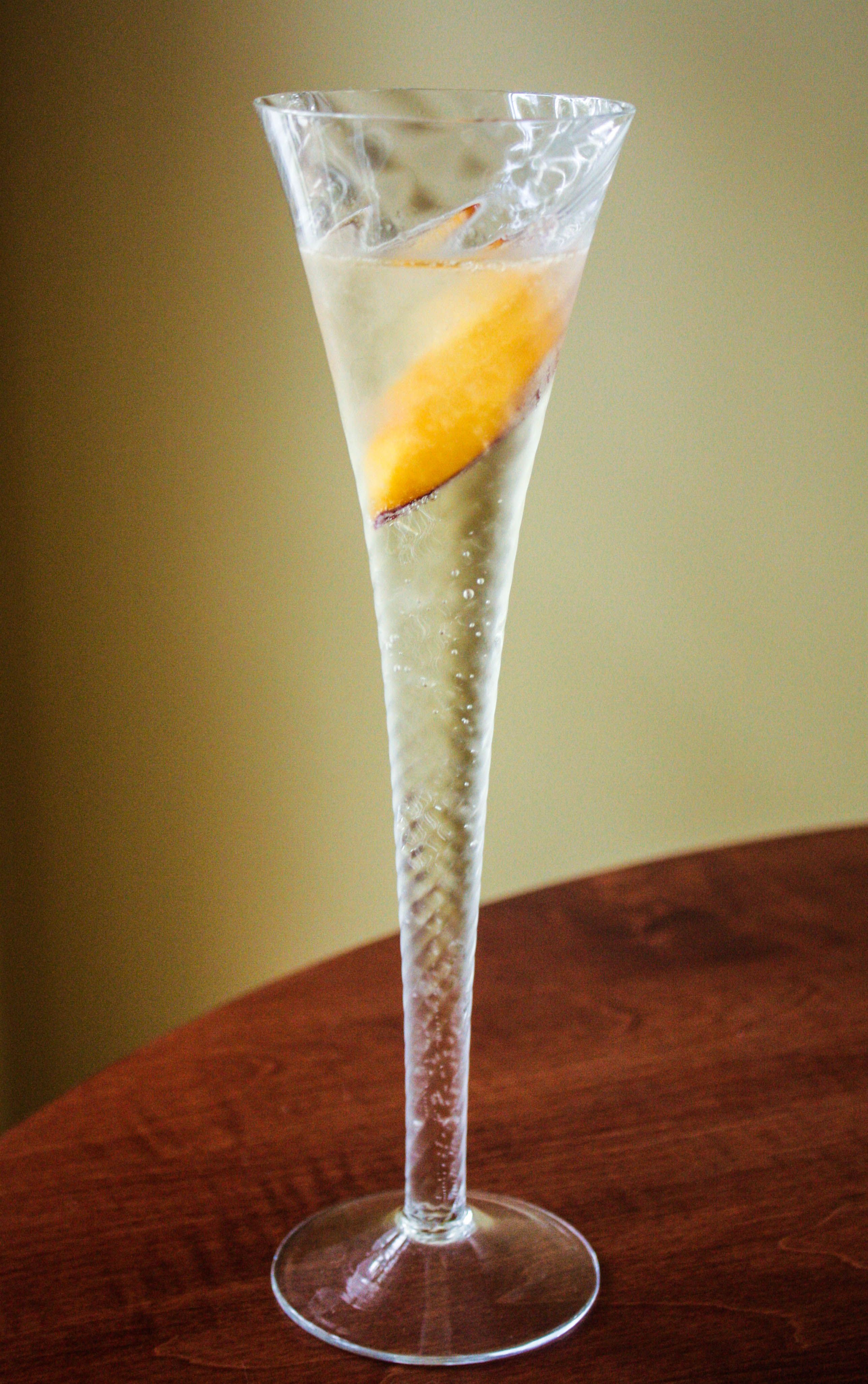 Peach Prosecco Cocktail...like a bellini, but with peach liqueur in lieu of purée
