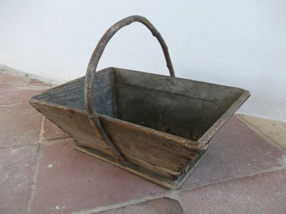French Vintage Gardener's Trug by cadeauxdecatherine on Etsy, €44.99