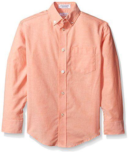 IZOD Boys Long Sleeve Solid Button-Down Oxford Shirt