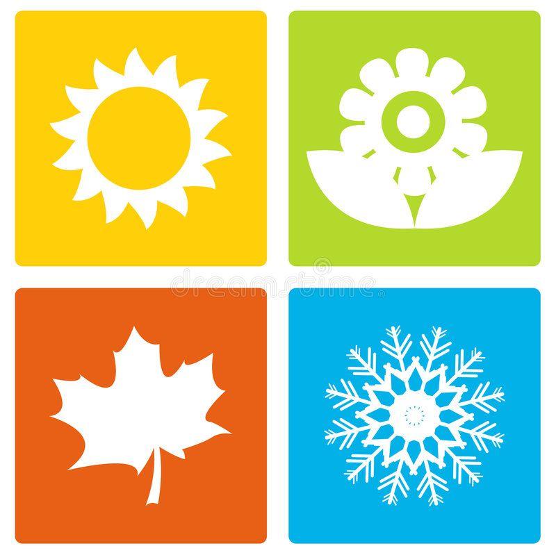 Simple Seasons Set Of Four Simple Season Icons Aff Set Seasons Simple Icons Season Ad Seasons Illustration Logo Design