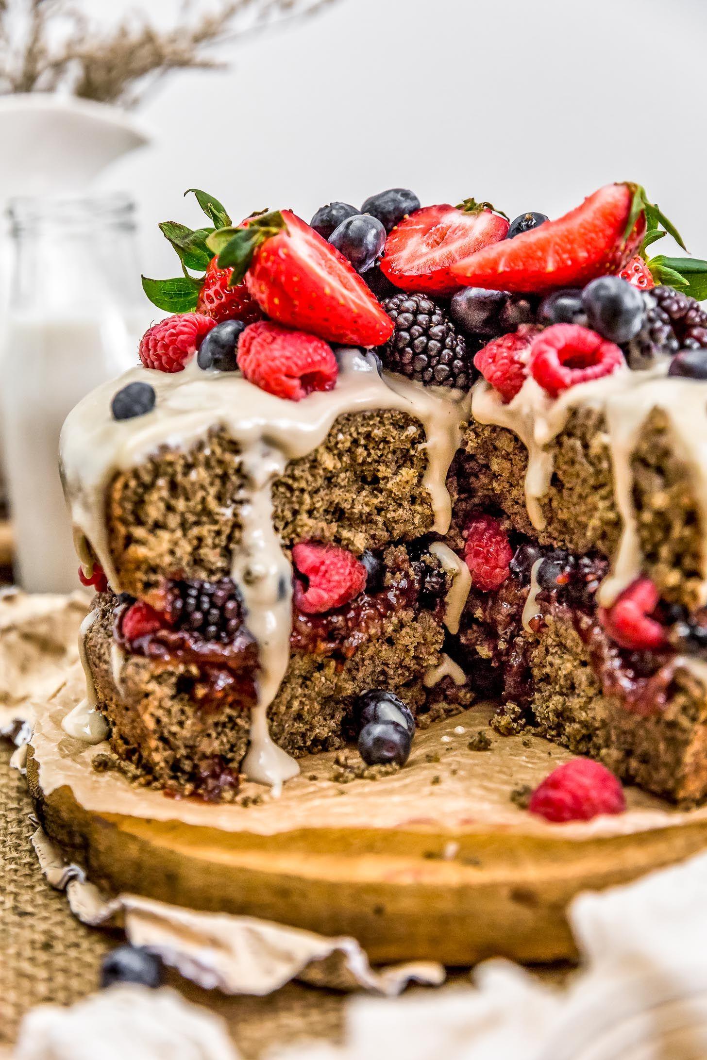 Healthy vegan buckwheat cake recipe with images