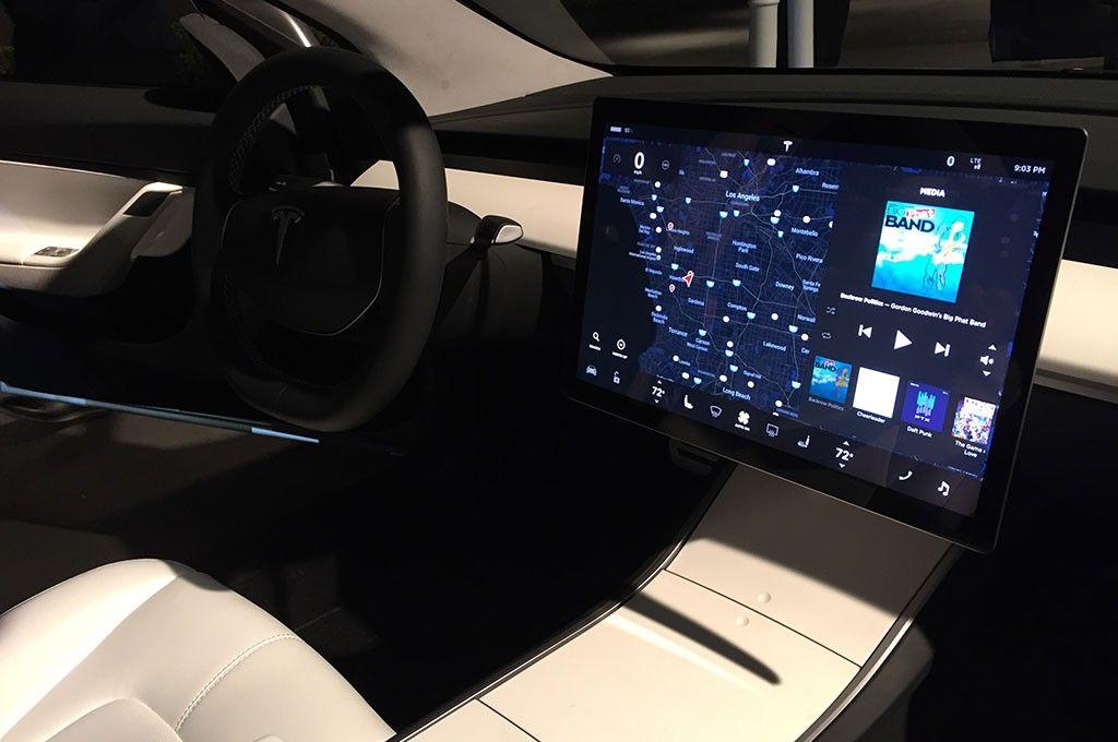 Tesla Model Interior What A Interior Luxurycar Pinterest