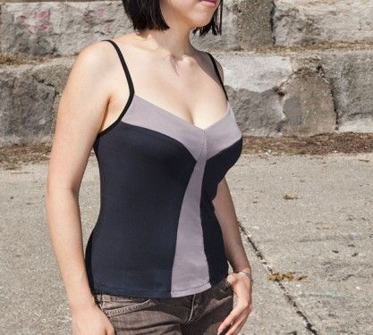 Yellow Tail Camisole free indie sewing pattern #YellowTailCami ...