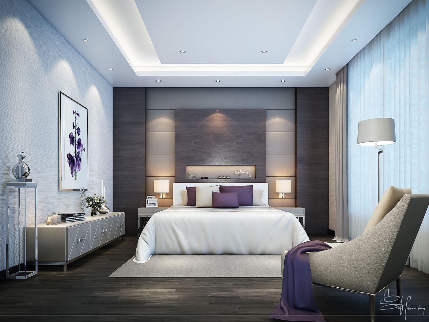 Contemporary Bedroom Interior design on Behance | Interior ...