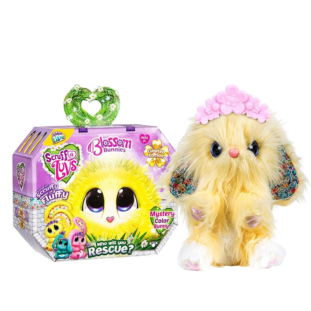 Mystery Scruff A Luvs Blossom Bunnies Limited Edition Plush Pet Toy Pet Toys Little Live Pets Furry Friend