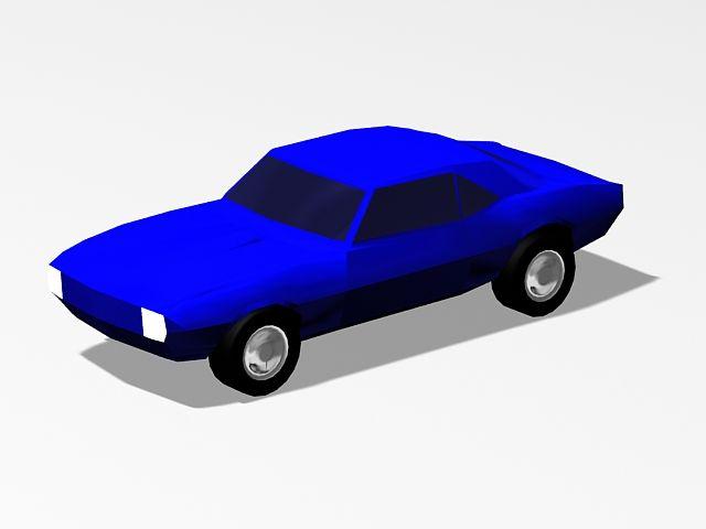 Blue Car 3d Model Car 3d Model Blue Car Car