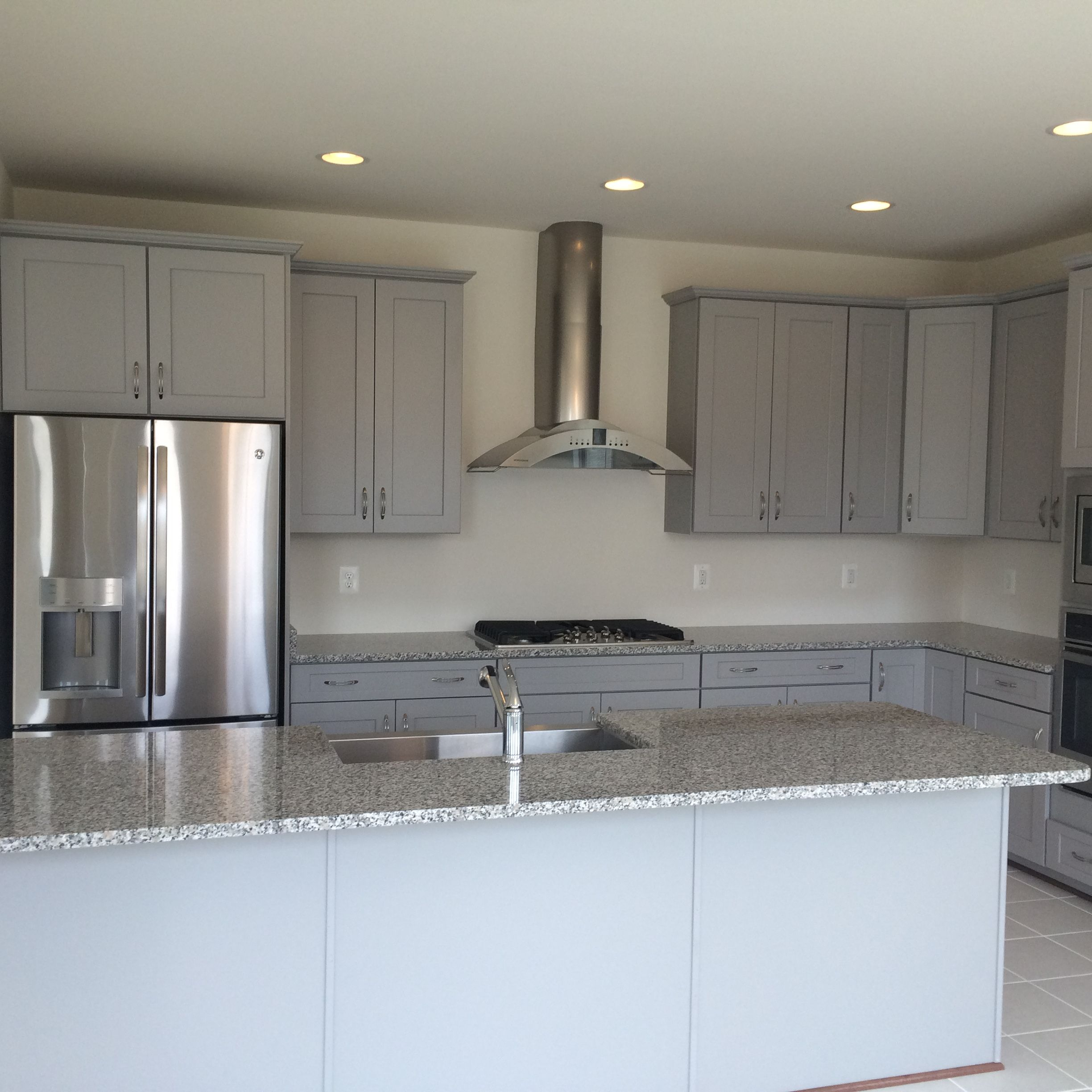 Level 7 Stone Cabinets, Level 1 Luna Pearl Granite Counter ...