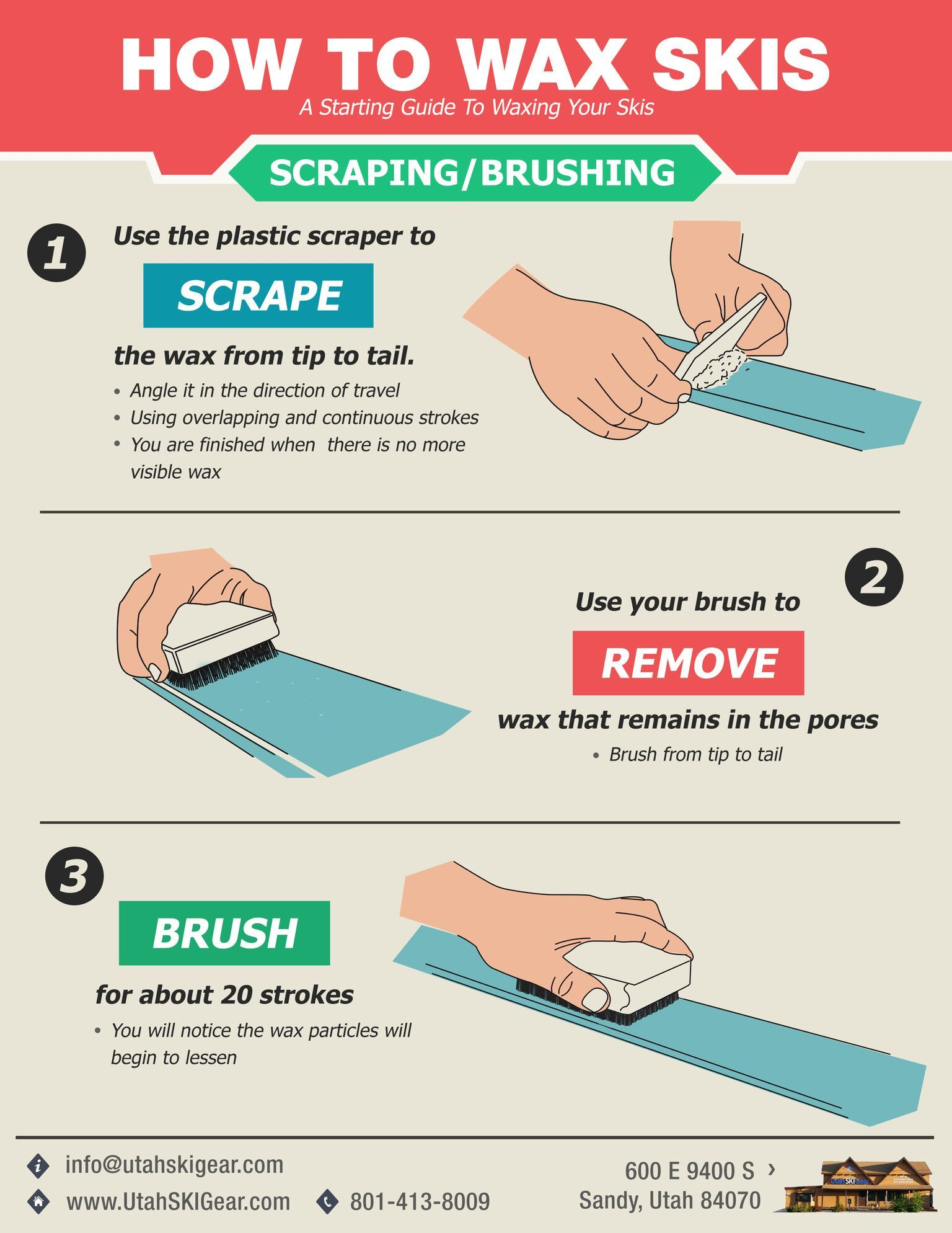 How to wax your skis skiing ski gear ski equipment