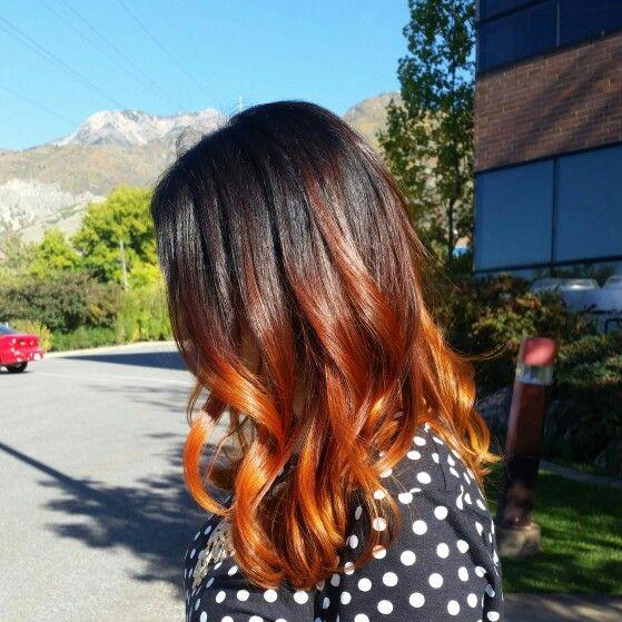 Medium Length Copper Ombre Ombre Hair Hair Styles Medium Hair Styles