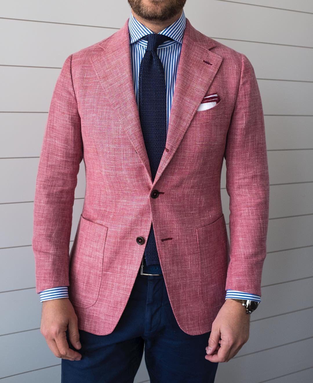 Pink Mens Suit Jacket Go Suits