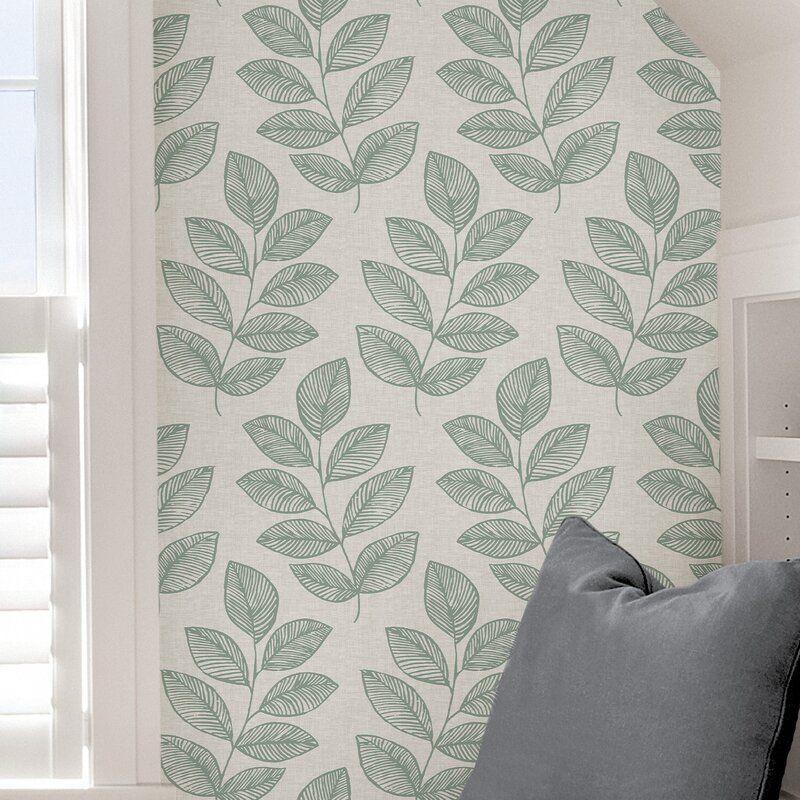 Spig Fern Sprig 18 L X 20 5 W Peel And Stick Wallpaper Roll Wallpaper Roll Peel And Stick Wallpaper Brick Wallpaper Roll
