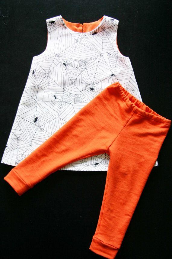 toddler halloween costume girls halloween outfit spider net dress pumpink leggings white orange black