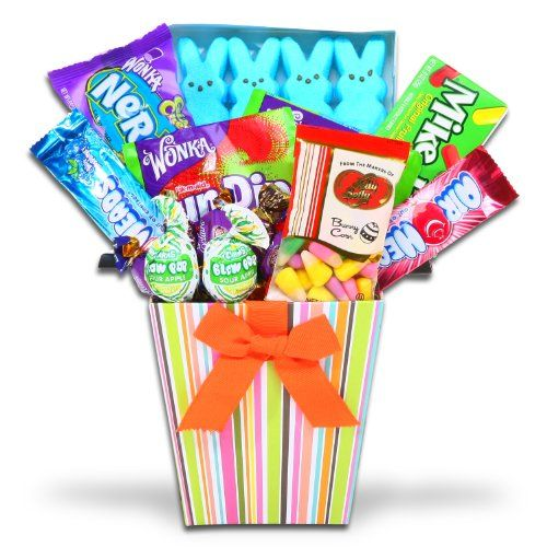 Alder Creek Gifts Spring Treats Bog Of Candy Gift Basket