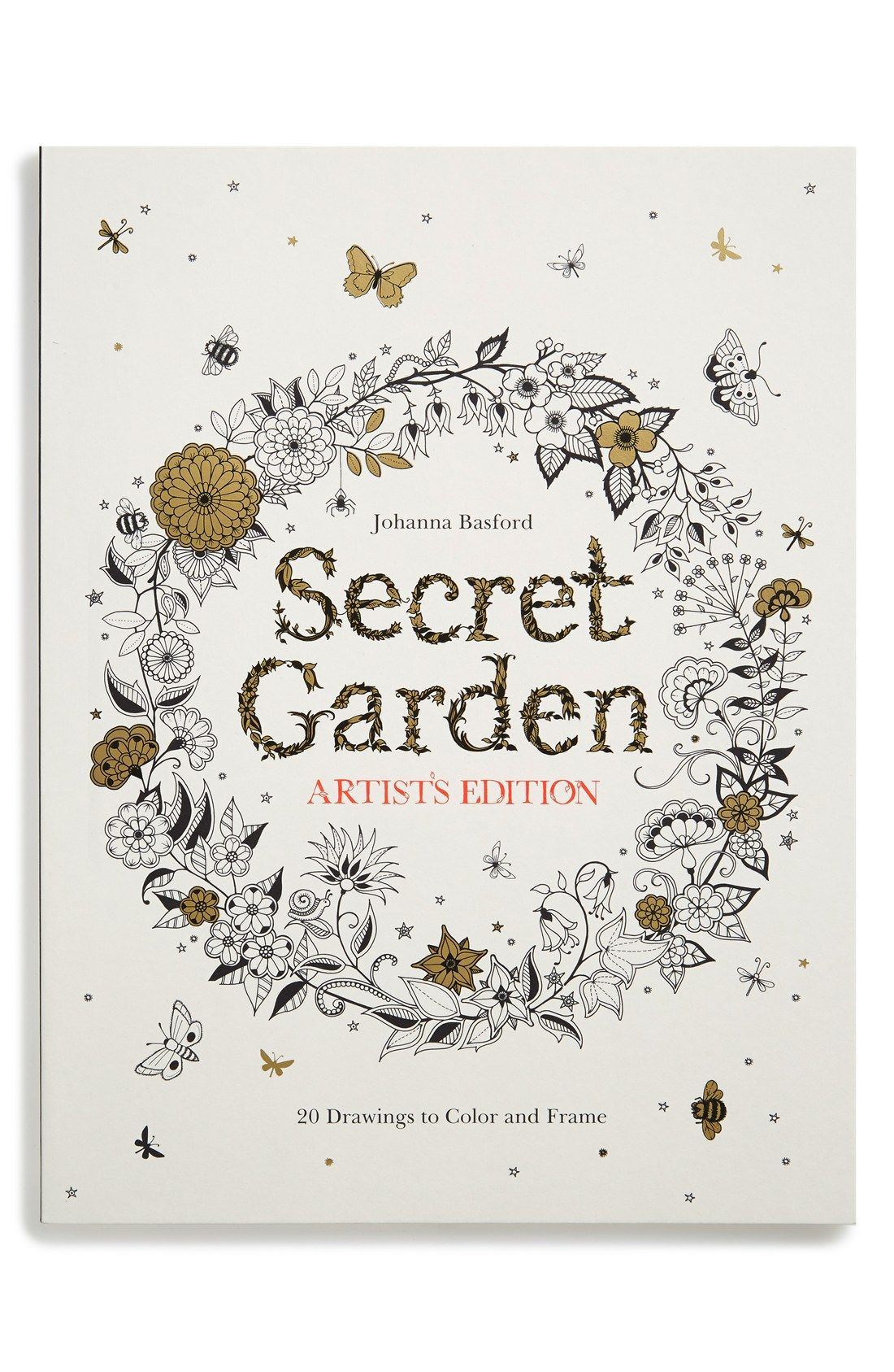 Chronicle Books Secret Garden Artist S Edition Coloring Book Nordstrom Secret Garden Coloring Book Coloring Books Secret Garden