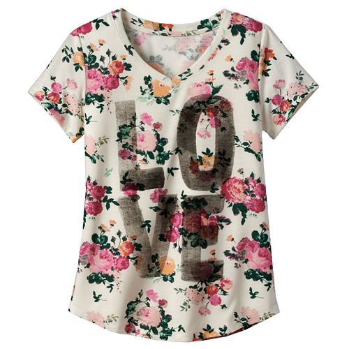 0a9e98b62 Girls 7-16 & Plus Size Mudd® V-neck Graphic Tee | Just for Kids ...
