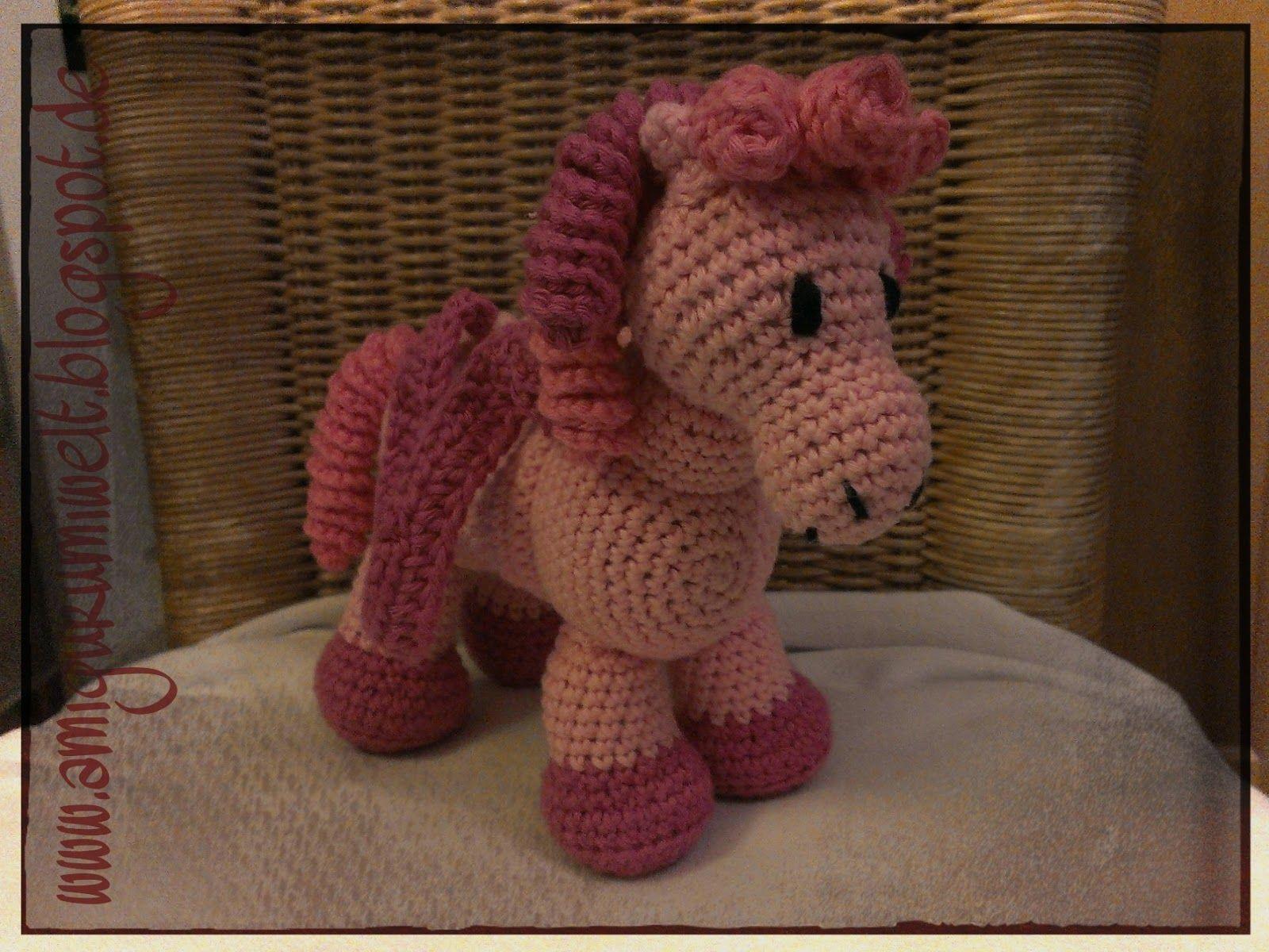 kostenlose Anleitung Pferd Pony Amigurumi Häkeln | Amigurumi ...
