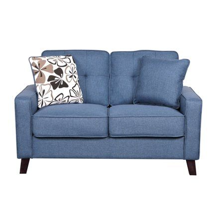 Fantastic Merton Loveseat Blue Products In 2019 Furniture Inzonedesignstudio Interior Chair Design Inzonedesignstudiocom