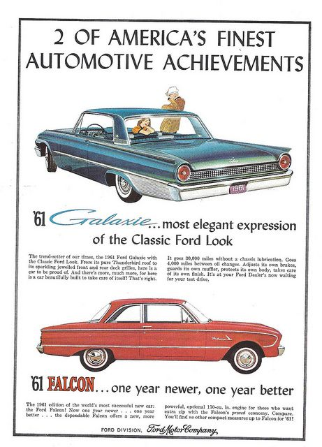 1961 Ford Starliner Promotional Advertising Poster