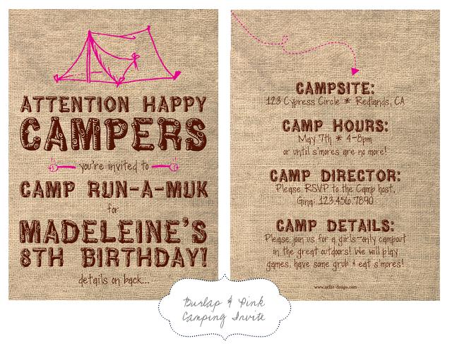 Nellie design in demand camping party invites camp out party nellie design in demand camping party invites stopboris Choice Image