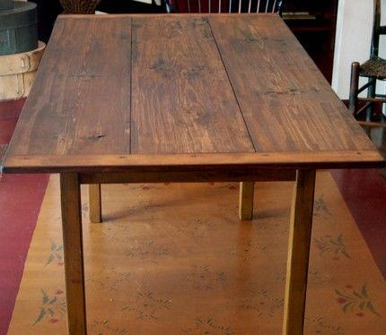 rustic country primitive farmhouse 6 foot harvest farm table $450