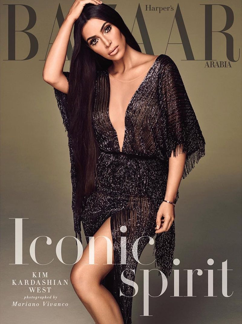 Kim covers kardashian harpers bazaar arabia fotos