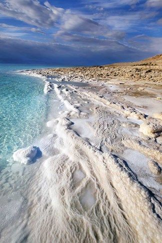 The Dead Sea, also called the Salt Sea ~ bordering Jordan to the east, and Palestine and Israel to the west.