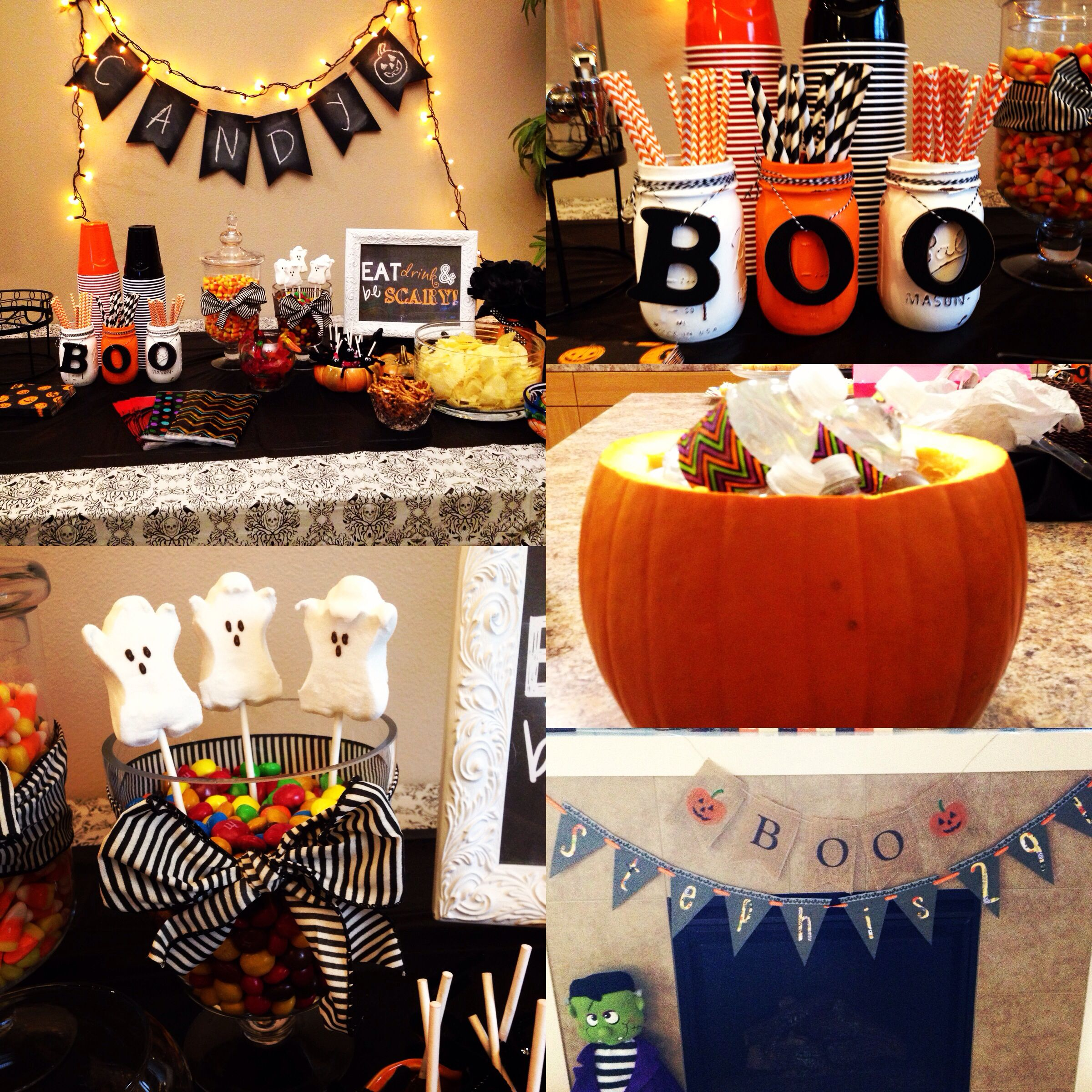 Halloween themed birthday party decor Halloween themed