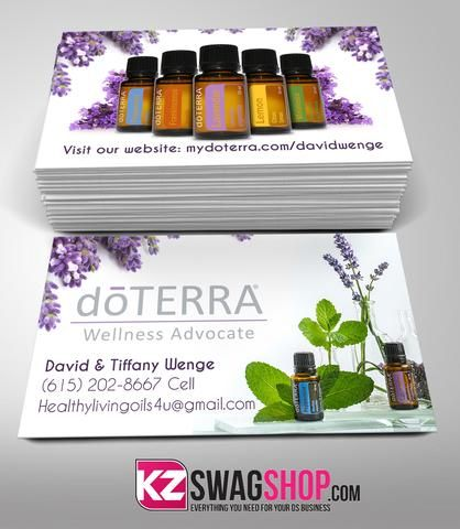 Doterra Business Cards Style 1 Doterra Pinterest Doterra