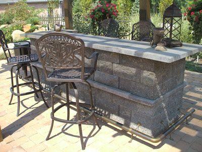 Diy build your own outdoor bar outdoors garden for Build your own patio bar
