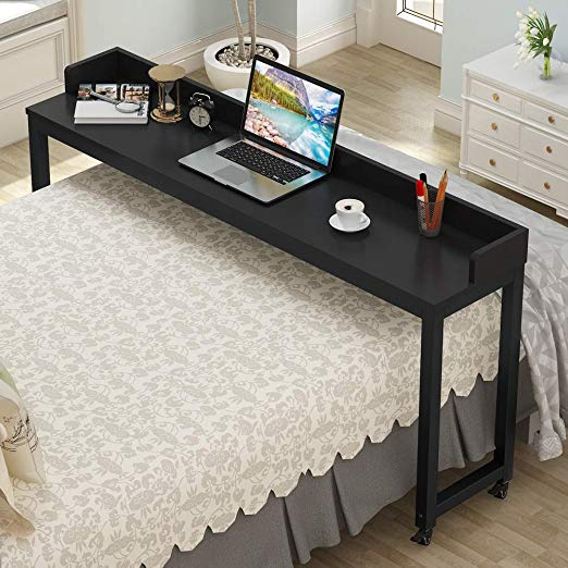 Overbed Table with Wheels, Tribesigns 70.8