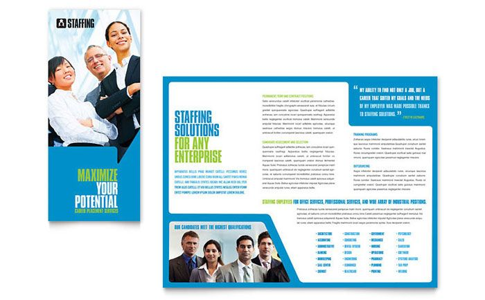 Staffing and Recruitment Agency Brochure Design Template by - advertisement brochure