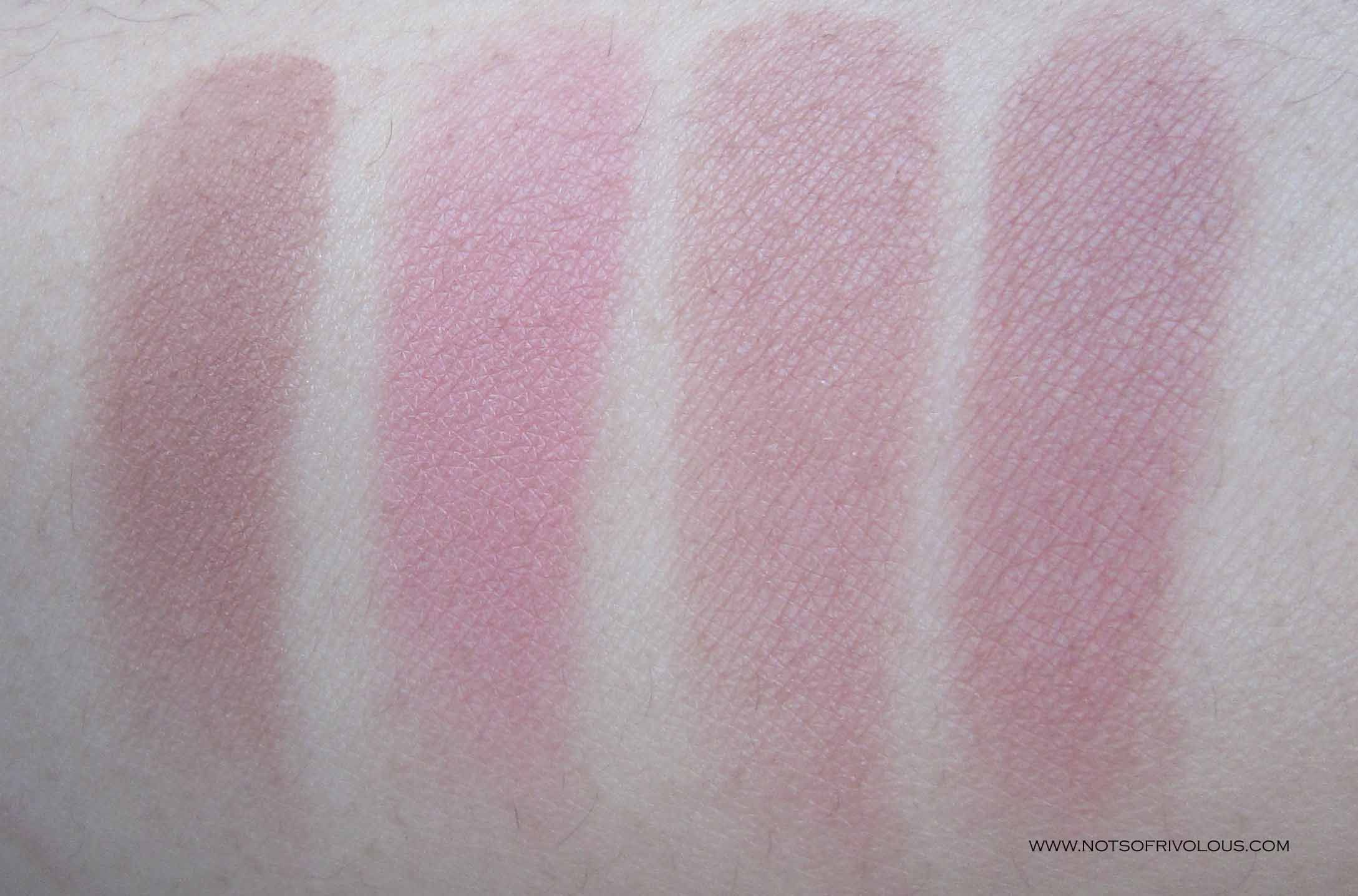 NARS Douceur, Love, Tarte Exposed & MAC Blushbaby Swatches | NARS ...