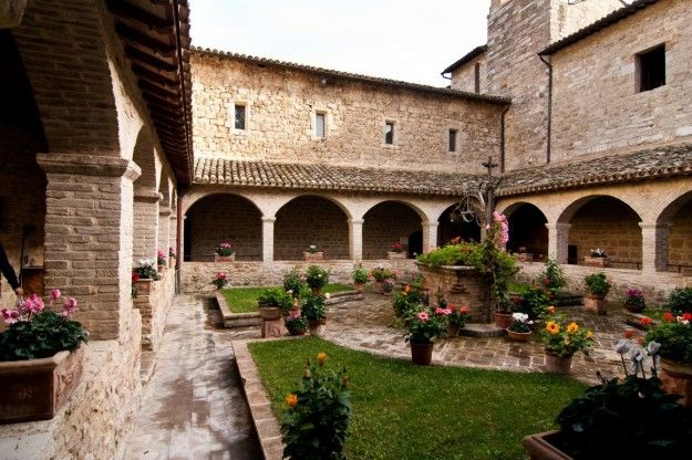 This is the courtyard in San Damiano, the convent of St. Clare where she died.  Fr. Justin celebrated mass for us in one of the chapels here to conclude our day.