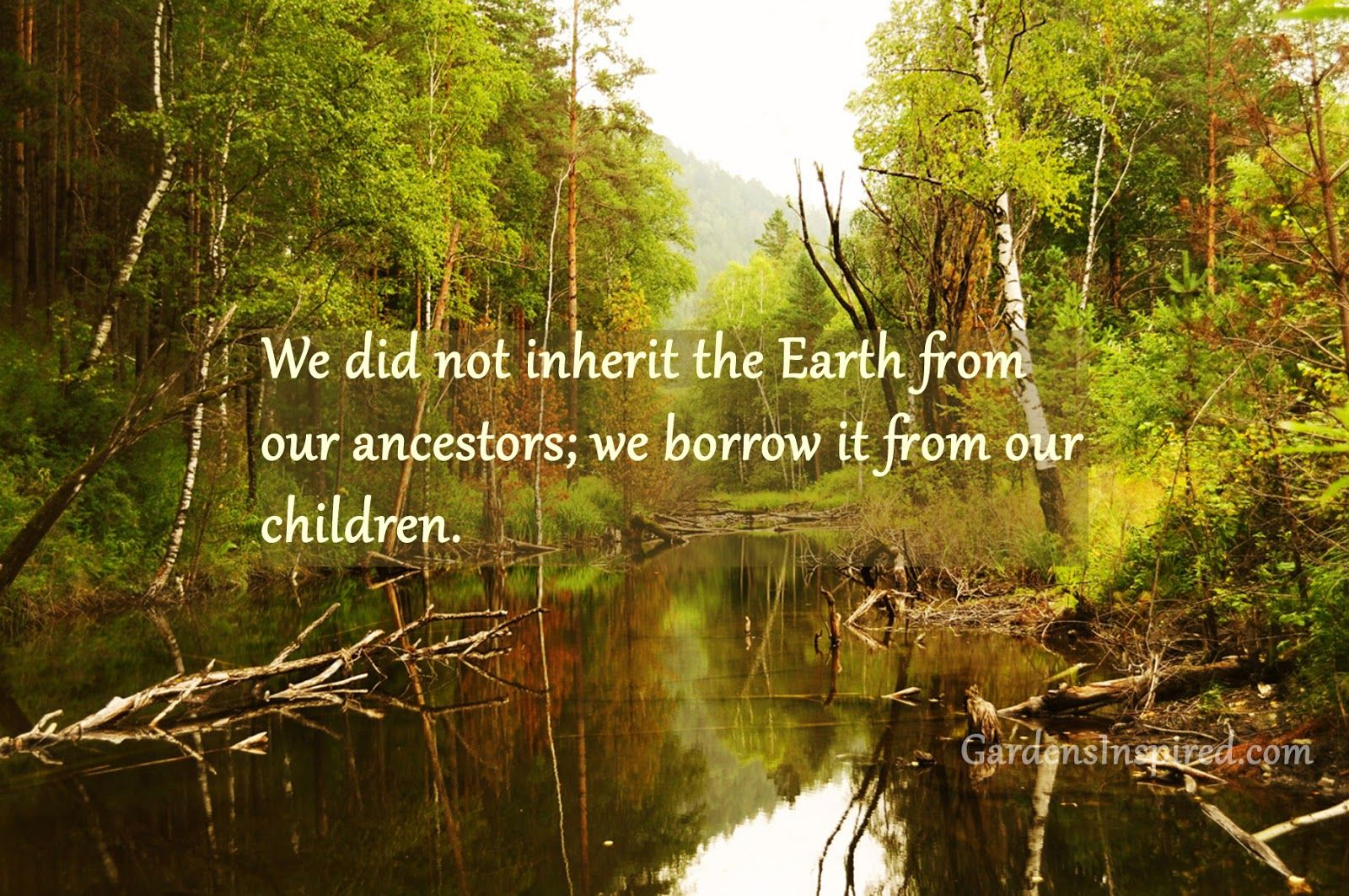 We did not inherit the Earth from our ancestors; we borrow it from ...