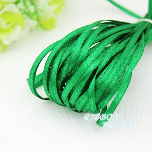 "(20 meters/lot) 1/8"" (3mm) Single Face Satin Ribbon Webbing Decoration Gift Christmas Ribbons"