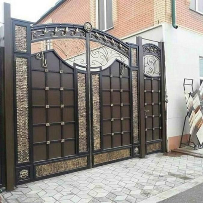 Main Entrance Door Grill: 40 Awesome Front Gate Design Ideas & Tips Improve Home