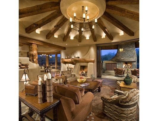 Southwest Interior Design Living Room - Home and Garden Design Ideas