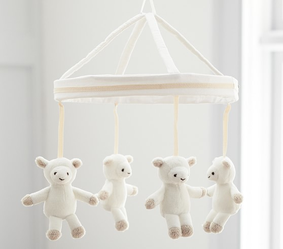Harper Lamb Musical Crib Mobile Pottery barn nursery