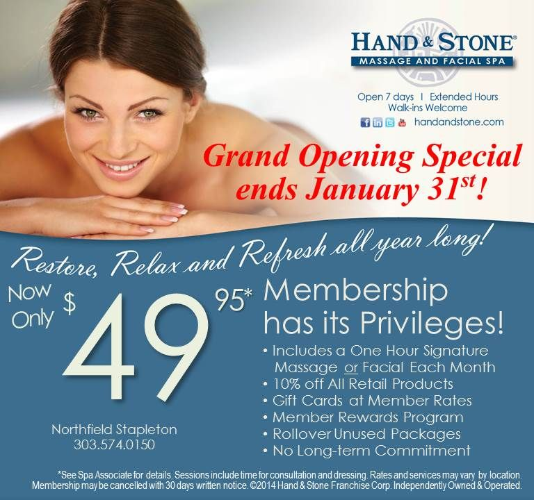 Grand Opening Special - $49.95 for an Introductory Massage ...