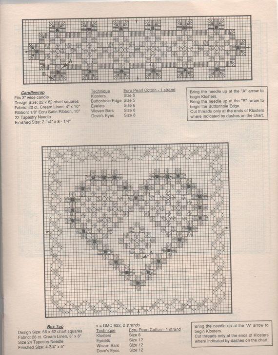 Hardanger Embroidery Lesson for Beginners Pattern por creekyattic